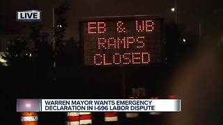 Warren mayor wants state of emergency declared in I-696 labor dispute