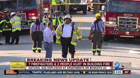 Explosion at Northeast Baltimore apartment complex sends 7 firefighters, 2 civilians to hospitals