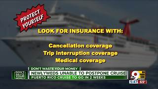 Cruise line balks at postponing honeymoon trip to Puerto Rico - Video