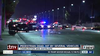 Pedestrian dies after being hit by two vehicles - Video
