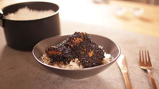 John Whaite's 5 ingredient sticky black sesame chicken