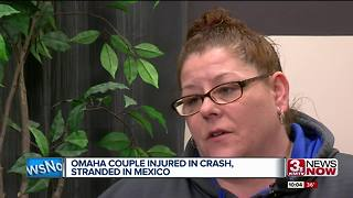 Couple injured in car crash, now stranded in Mexico - Video