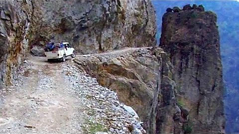 These Guys Take You Through A Cliffside Road In The Himalayas That Is Absolutely Amazing