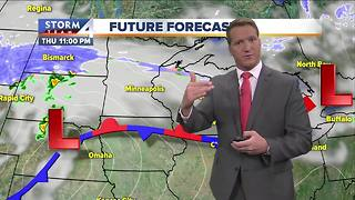 Showers possible late Wednesday - Video