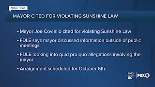 Cape Coral Mayor cited for violating sunshine law