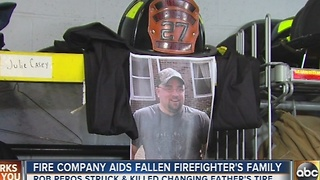 Baltimore County fire company aids fallen firefighter's family - Video