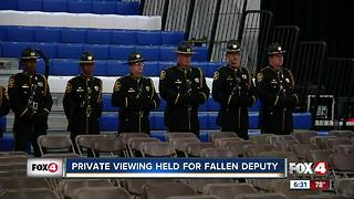 Viewing held for fallen deputy - Video