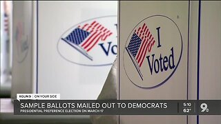 125K sample ballots mailed to registered democrats in Pima County