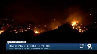 Firefighting effort for Bighorn fire continue
