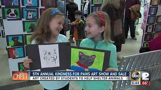 MD SPCA's Kindness for Paws Art Show - Video