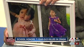 School honors 7-year-old killed in crash - Video