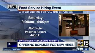 Sky Harbor International Airport looking to hire workers