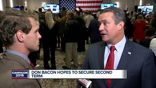 Congressman Don Bacon joins 3 News Now from watch party