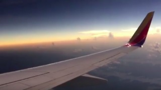Passengers on Southwest Airlines Flight View Solar Eclipse - Video