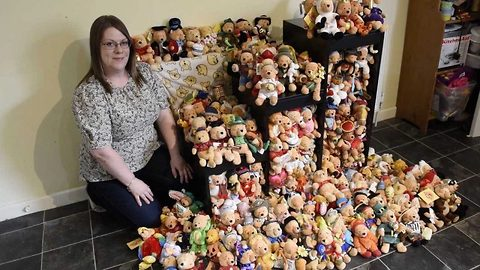 Winnie-the-pooh-mad mum has no room for kids' toys as she displays huge collection of bears