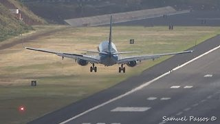 Extreme Crosswinds Test Pilots' Skills At Madeira Airport - Video