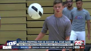 Local prepping for HS soccer all star game - Video