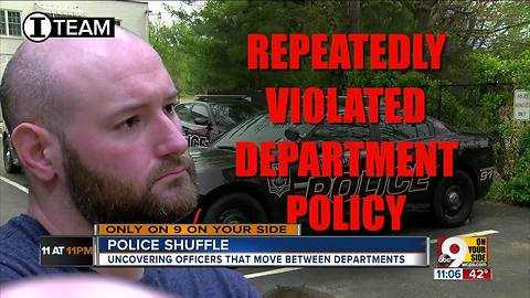 Recycled cops move from department to department