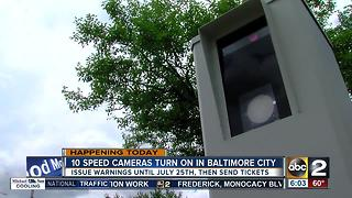 10 new speed cameras roll out in Baltimore Monday - Video