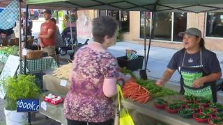 Shoppers use extra caution at downtown farmer's market - Video