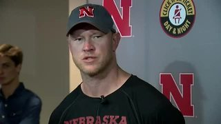 Scott Frost speaks after Friday morning's practice
