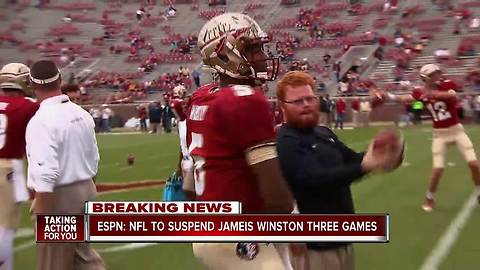 NFL plans to suspend Bucs QB Jameis Winston 3 games for violating personal conduct policy