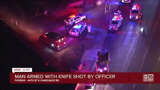 Man armed with knife shot by Phoenix police sergeant