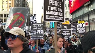 Anti-Trump Protesters March in New York, Ask People to Join Them - Video