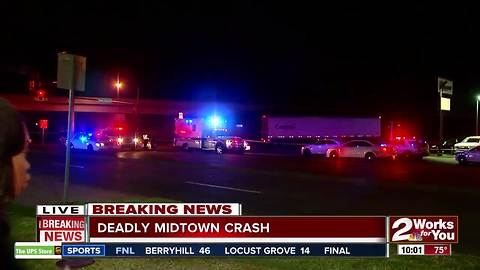 Semi-truck and motorcycle collide