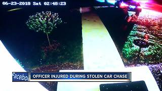 High speed chase injures Glendale Police officer - Video