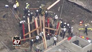 2 rescued from trench collapse in suburban Detroit - Video