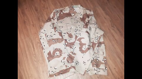 6 Color Desert Chocolate Chip Pattern BDU Coat Quick Look
