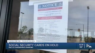 Social Security cards on hold due to pandemic