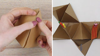 DIY Origami Wall Organizer - Video