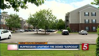 Fire at Murfreesboro Apartment Complex Deemed Suspicious - Video