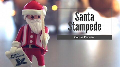 Santa Stampede - Course Preview with Metrics