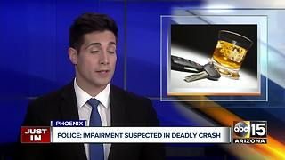 Motorcyclist dies in north Phoenix crash - Video