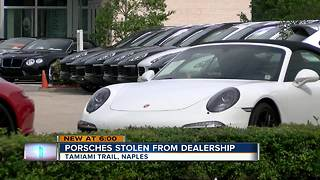 Three cars stolen from Porsche dealership in Southwest Florida - Video