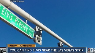 Riviera Boulevard sign swapped for Elvis Presley - Video