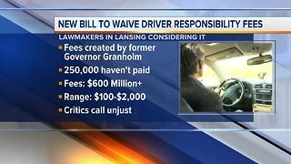 New bill would waive Michigan driver responsibility fees - Video