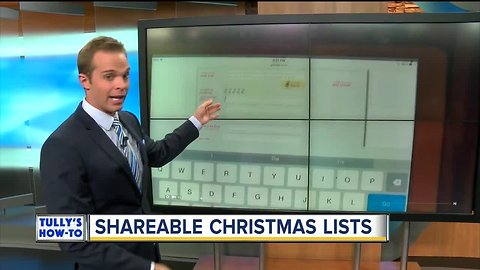 How to create a shareable Christmas list | Tully's How-To