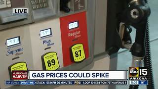 Gas prices set to spike as Hurricane Harvey pummels Texas - Video
