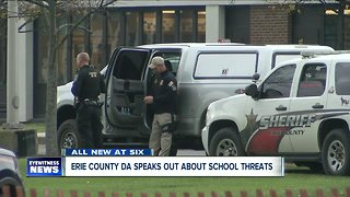 Erie County DA speaks out about school threats - Video