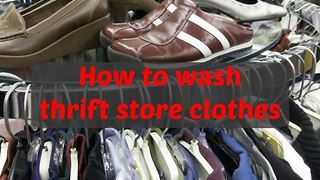How to wash thrift store clothes - Video