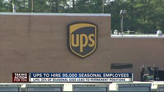 UPS will hire about 95,000 extra workers for holiday season - Video