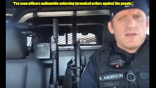 Seattle police officer Greg Anderson urges cops not to enforce tyrannical lockdown orders