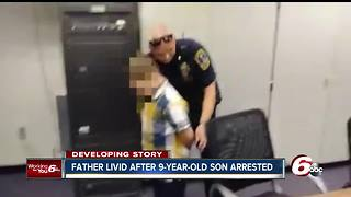 Father talks about his son's arrest at elementary school - Video