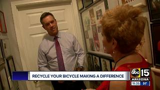 Valley woman changing lives with help of Recycle Your Bicycle