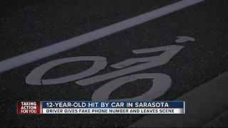 12-year-old victim of hit-and-run, given disconnected phone number by driver - Video