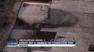2 homes damaged in fire at townhome complex in Arvada - Video